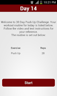 30 Day Push Up Challenge- screenshot thumbnail