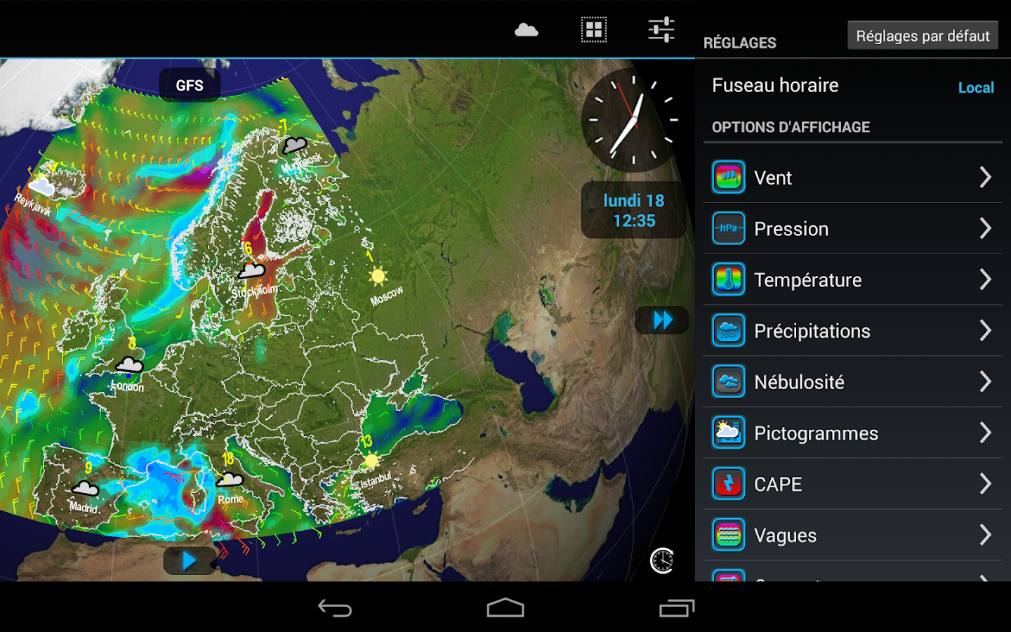 Weather4D – Capture d'écran