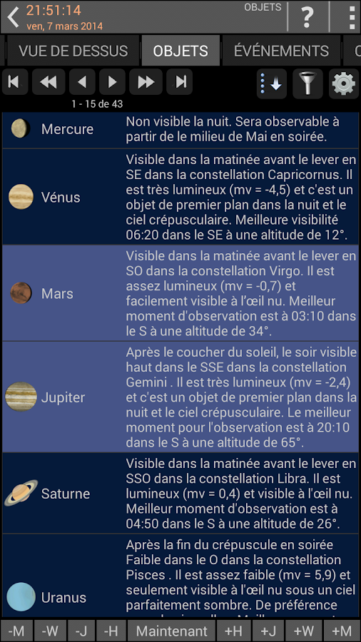 Mobile Observatory – Capture d'écran