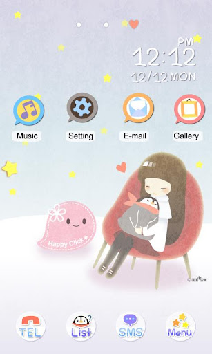 CUKI Themes Sleeping Penguinny