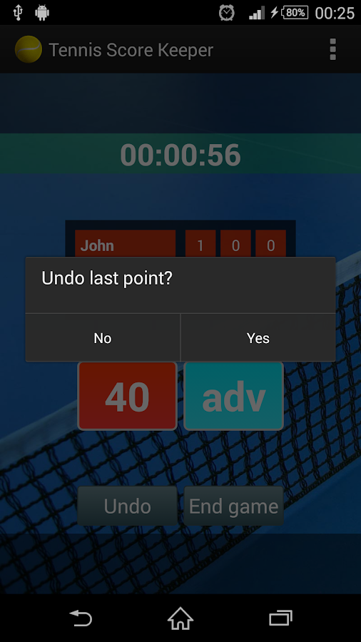 Tennis Score Keeper- screenshot