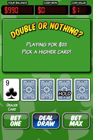 Ace Roller Video Poker- screenshot
