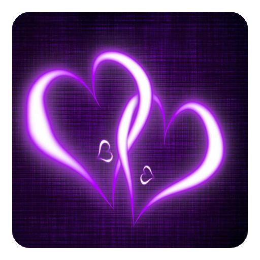 download purple hearts live wallpaper for pc