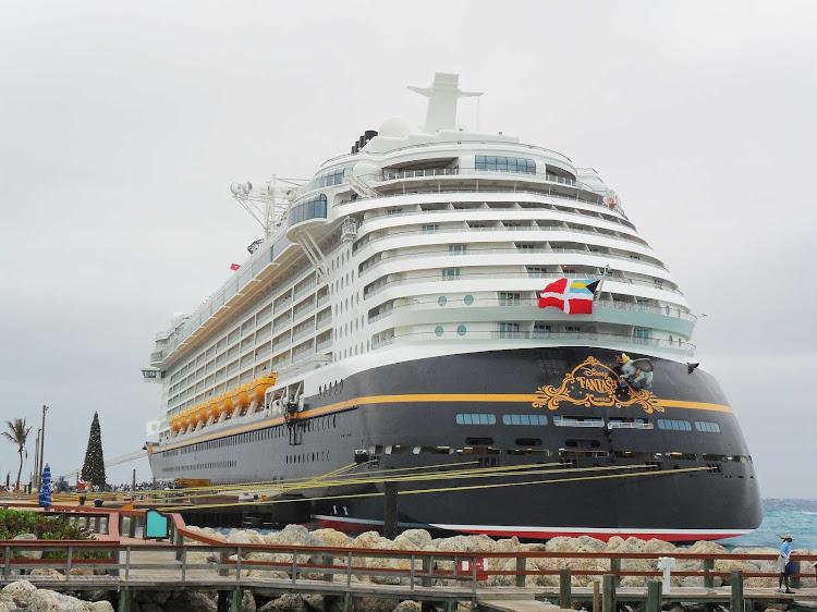 Disney Fantasy at dockside.
