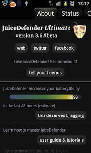 JuiceDefender beta - screenshot thumbnail