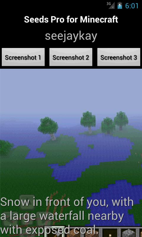 Seeds PRO for Minecraft - screenshot