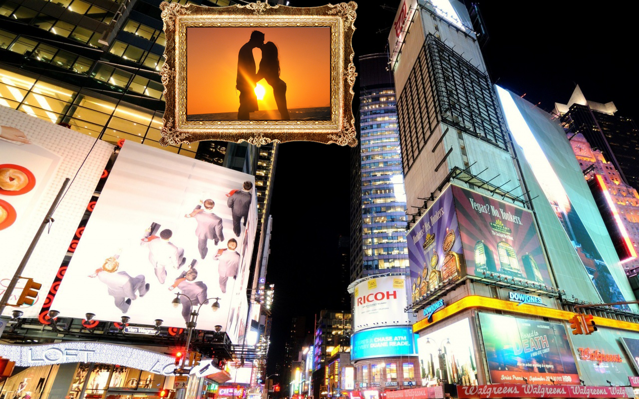 new york photo frames editor screenshot