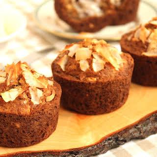 Gluten-Free Coconut Banana Hazelnut Muffins.