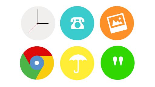 Alira - round Flat icon pack