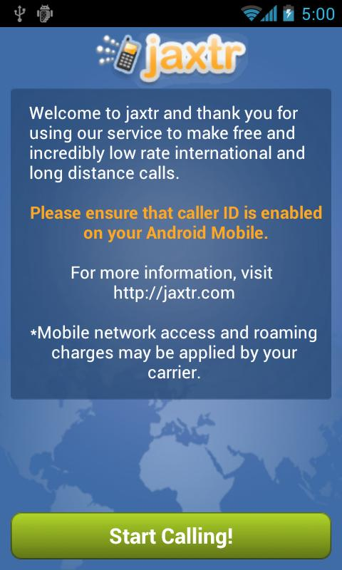 Jaxtr Voice: Cheap Int'l Calls - screenshot