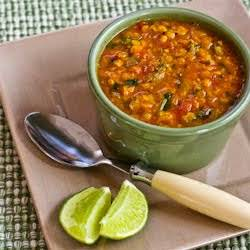 Mexican Red Lentil Stew with Lime and Cilantro Recipe