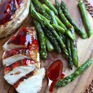 Strawberry-Glazed Grilled Chicken Breasts