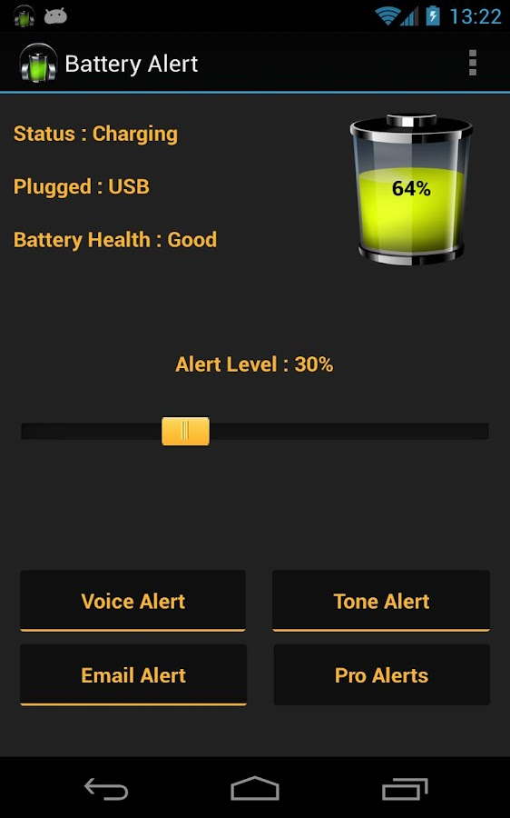 Battery Alert - screenshot