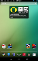 Screenshot of Oregon Ducks Live Clock
