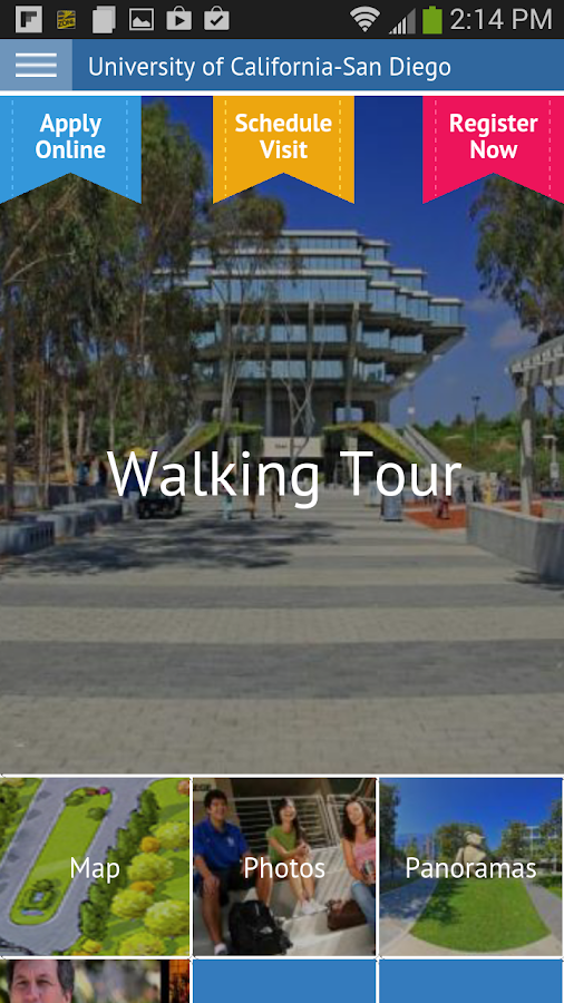 UC San Diego Virtual Tour- screenshot