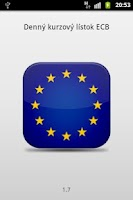 Screenshot of Denný kurzový lístok ECB