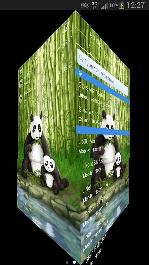 GO SMS Pro Theme Panda - screenshot