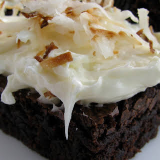 Coconut Cream Topped Brownies.