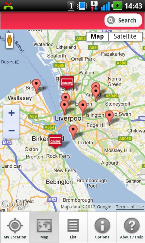 Calor Gas Stockists - screenshot