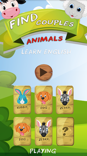 Memory game: Animals for kids