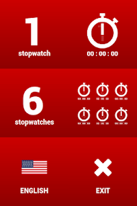 Multiple stopwatches FREE screenshot 1