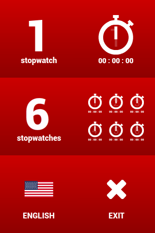 Multiple stopwatches FREE- screenshot