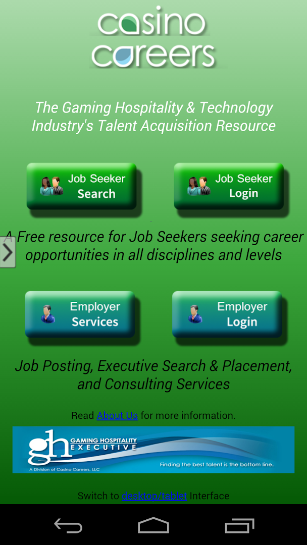 Casino job search society for the study of gambling