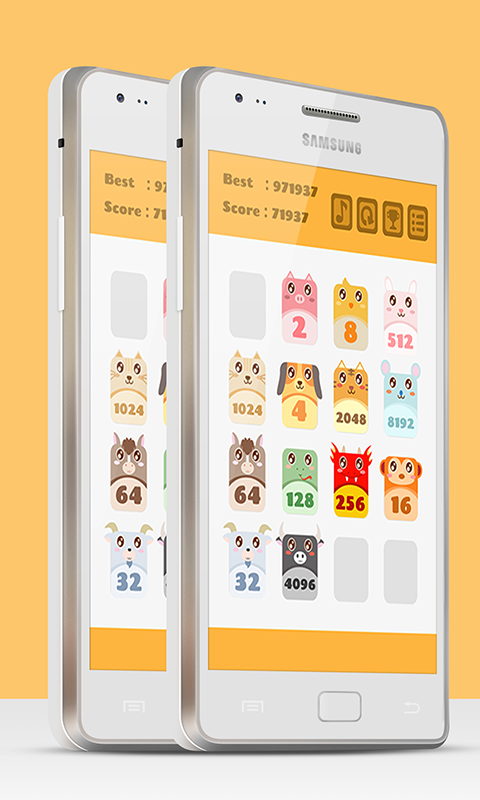 2048 Animals Cat + Cat = Dog- screenshot
