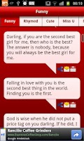 Screenshot of Love messages collection