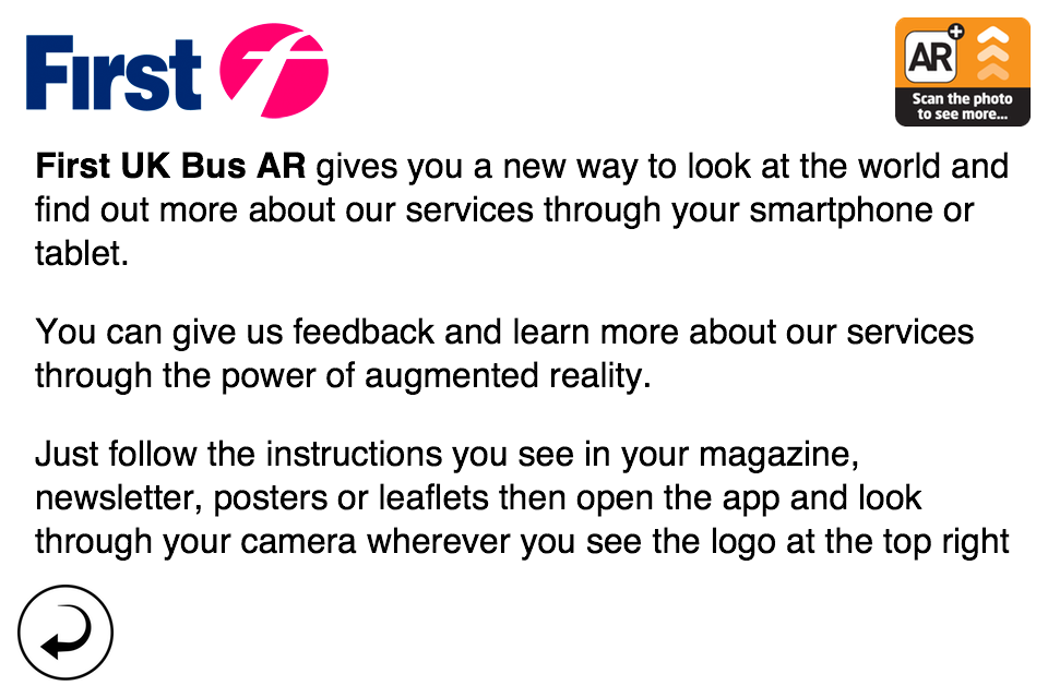 First UK Bus Augmented Reality- screenshot