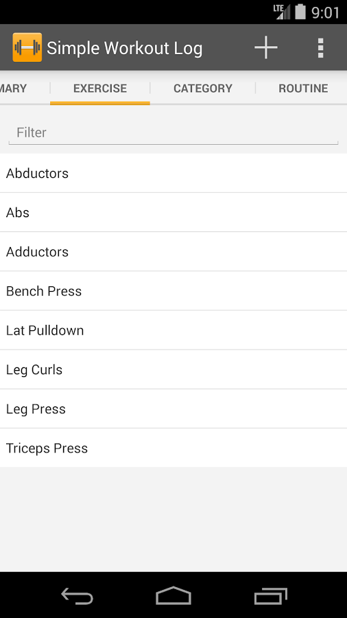 workout spreadsheets
