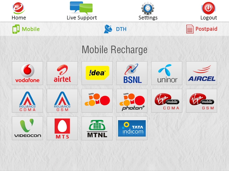 #13. My Recharge With Live Supports (Android)