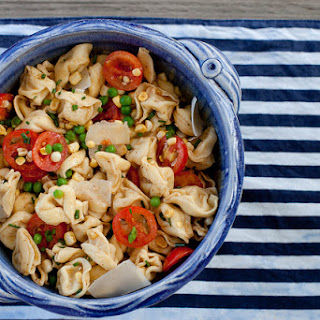 Summer Veggie Tortellini Salad with Browned Butter.