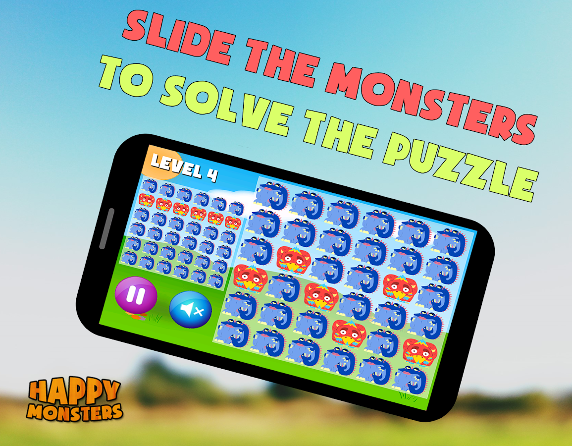 Happy Monsters (Slide Puzzle) - screenshot