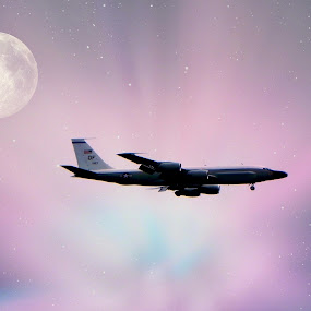 Soar by Dawn Marie - Transportation Airplanes ( moon, sky, plane, engine, wings, stars, airplane, tail, jet )