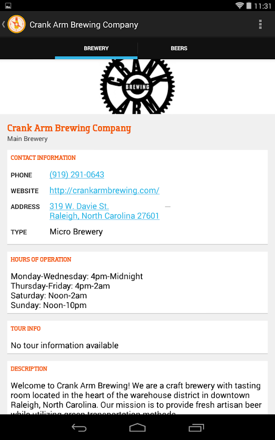 BreweryMap #1 Beer Finding App - screenshot
