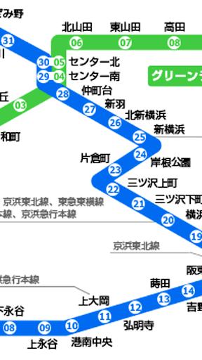 横浜市営地下鉄路線図