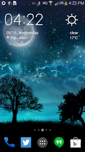 Dream Night Pro Live Wallpaper Screenshot