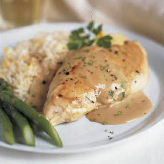 Slow Cooked Creamy Tarragon Chicken.