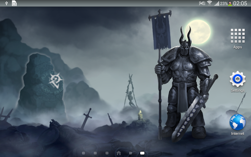 Knight Dark Fantasy Live Wallpaper Art Best HD LWP 1.1.4 screenshots 2