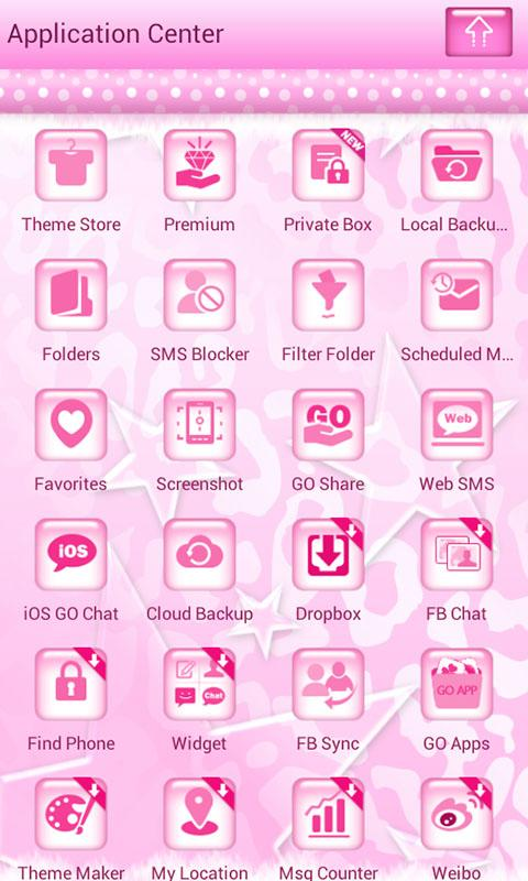 Pink Cheetah Go SMS Star Theme - screenshot