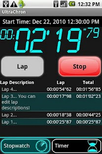 UltraChron Stopwatch & Timer - screenshot thumbnail