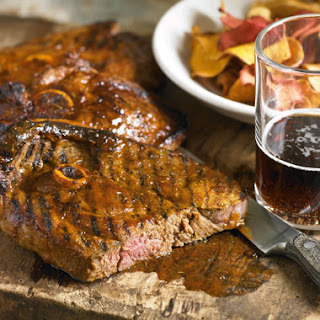 Guinness-Brined BBQ Lamb Steaks.