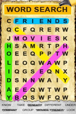 Quebra-cabeça Procurar palavra - screenshot