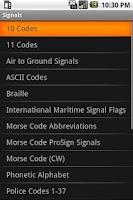 Screenshot of Signals