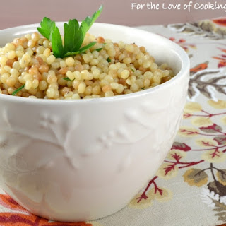Garlicky Israeli Couscous Recipe