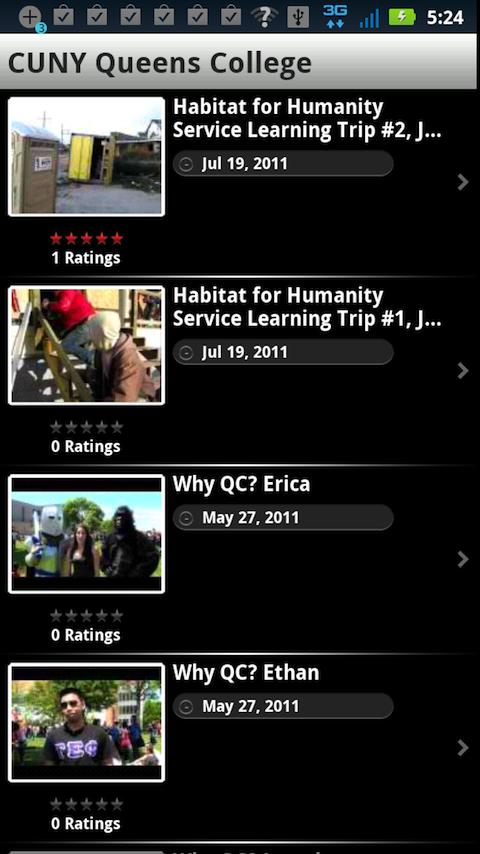 Queens College Mobile- screenshot