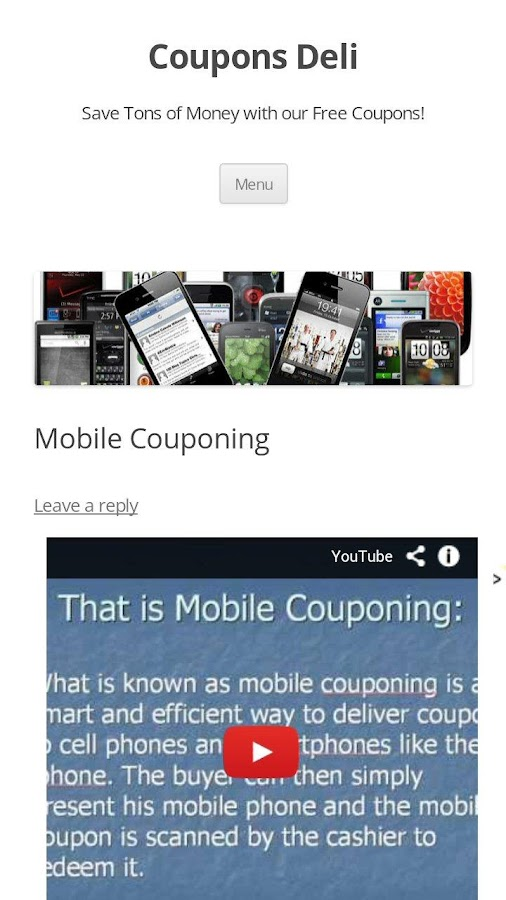 Mobile Coupons- screenshot