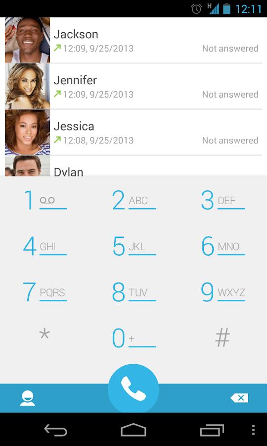 ExDialer Android 4.4 KitKat - screenshot
