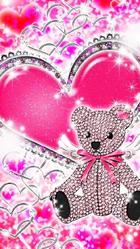 Heart Bear Cute Kirakira Screenshot